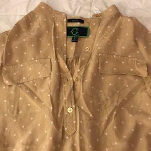 Tunic style 100% silk blouse